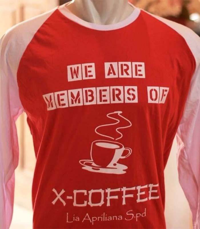Desain Baju Organisasi Lengan Panjang - X-Coffe