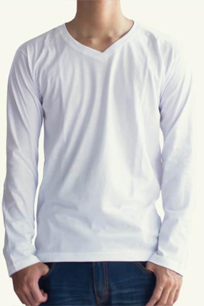 Kaos Lengan Panjang Putih