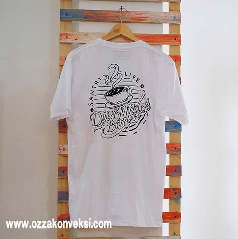 Sablon Baju Warna Putih
