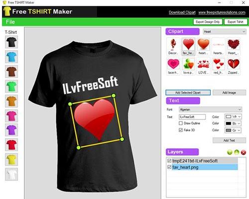 Free T-Shirt Maker [Aplikasi Desain Baju PC]