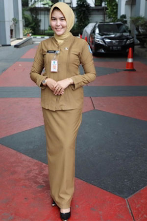 Model Baju Dinas PNS Wanita Berjilbab Terbaru 2020