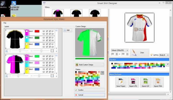 Smart Shirt Designer - Aplikasi Desain Baju PC