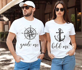 Gambar Kaos Couple Keren - Guide Me Hold Me