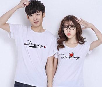 Kaos Couple Korea Warna Putih