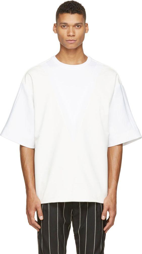 Kaos Polos Putih Oversize Pria