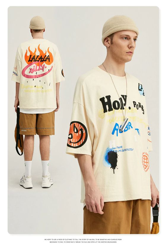 Kaos Sablon Oversize Keren Untuk Pria