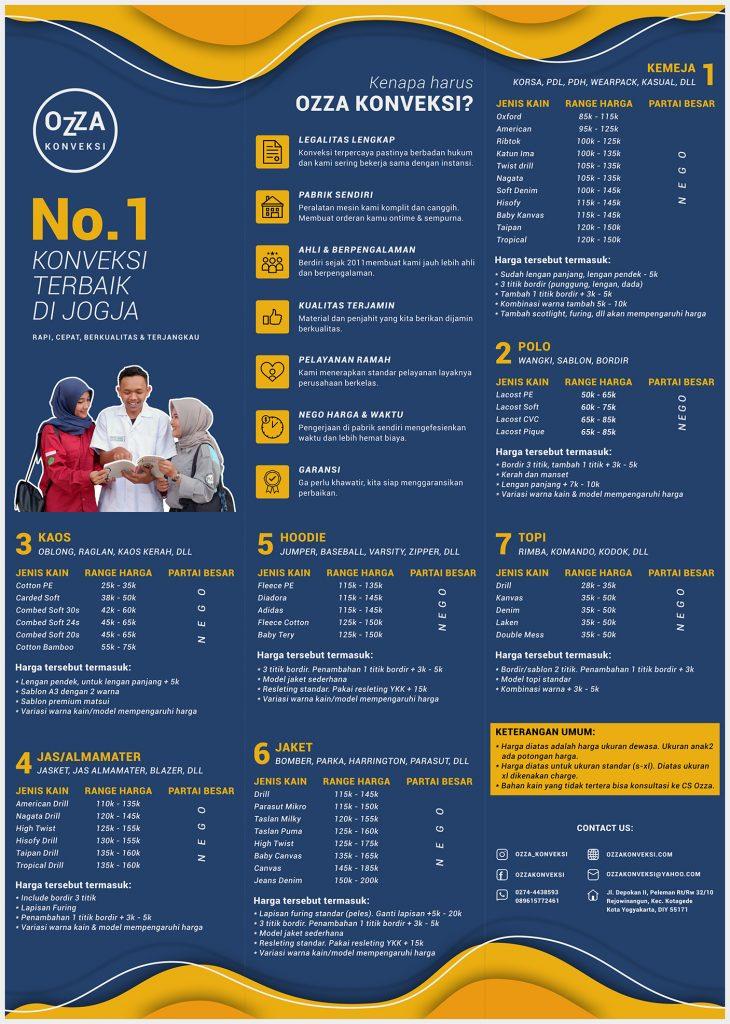 Price List - Bikin Kaos Jogja