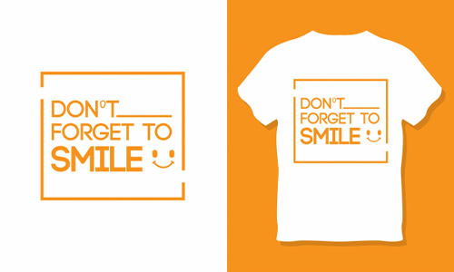 Template Kaos Distro Tulisan Dont Forget To Smile