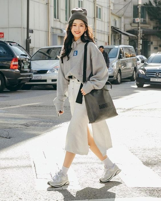 sweatshirt oversized ala korea