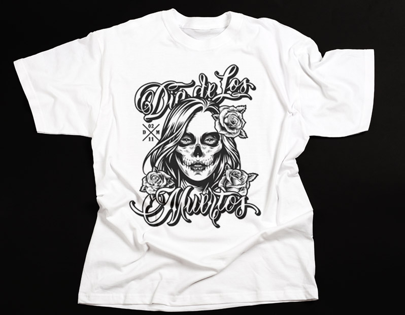 Kaos-Distro-skull-lady
