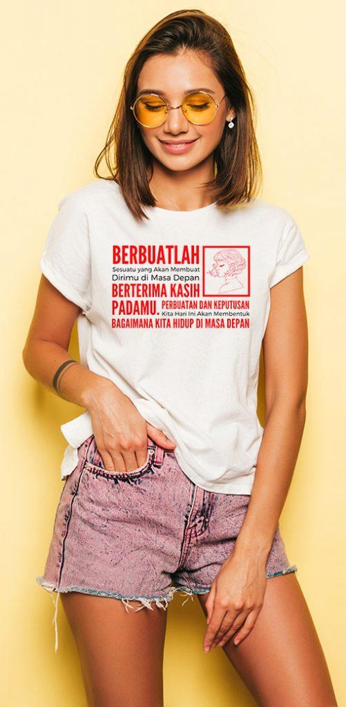 Baju Tumblr Style - Kaos polos Putih