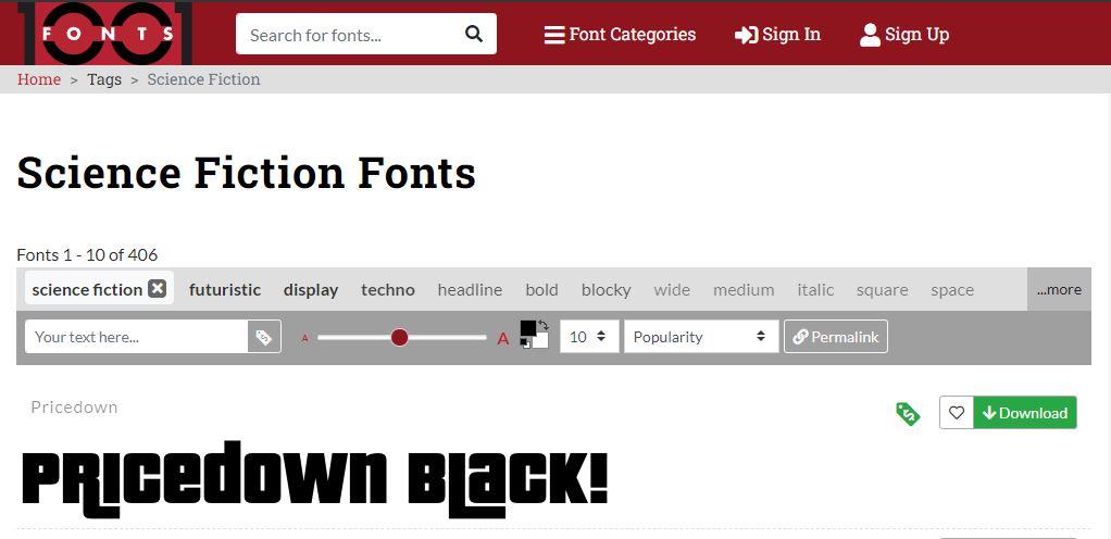 Download Font Distro Keren - 1001 Font